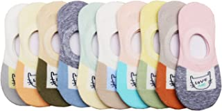 Toddler Little Girls Thin No Show Cotton Socks Summer 10 Pack 1-9Y Fashion Fun Casual