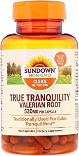 Sundown Naturals Valerian Root 530 mg Capsules - 100 ct, Pack of 4