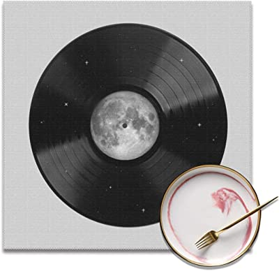 Sanghing Customized Moon Song Tray Mat, Personality Tray Mat 12x12 in ¡°4 Pieces¡± of Non-Slip Washable Tray Mat, Table Heat-Resistant Kitchen Tray Mat