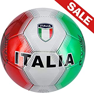 Machine Stitch Soccer Ball with Country Name Design B Size: 5
