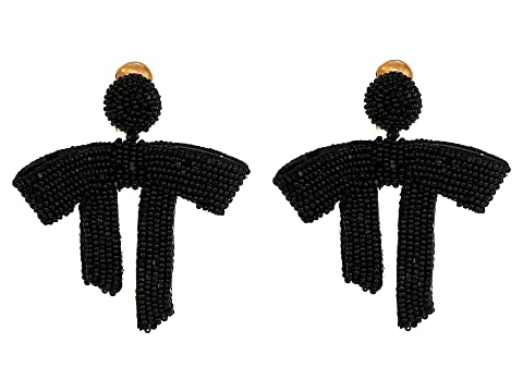 Oscar de la Renta Drape Beaded C Earrings