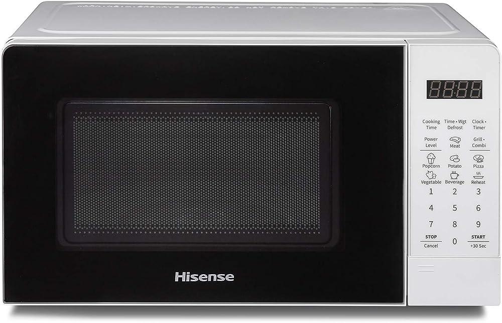 Hisense forno microonde elettronico, capacità 20 l, potenza 700 w, grill , display led con comand touch H20MOWS3G