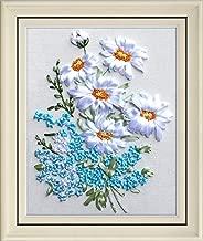 Wandafull Ribbon embroidery Kit Handmade Flower(No frame)