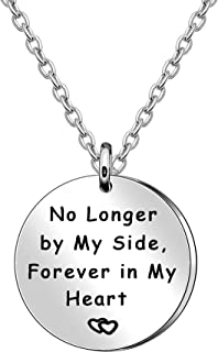 JQFEN No Longer by My Side Forever in My Heart Couples Necklaces Family Jewelry Friend Gift