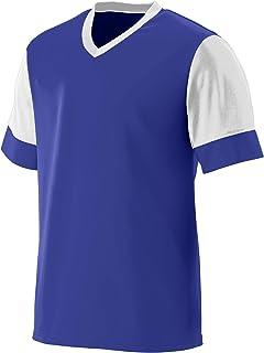 Augusta Sportswear AK-848061056938 Men's Lightning Jersey, XXX-Large, Purple/White