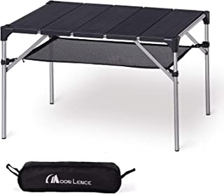 Moon Lence キャンプ テーブル アルミ ロールテーブル アウトドア ハイキング BBQ 折りたたみ式 コンパクト 超軽量…
