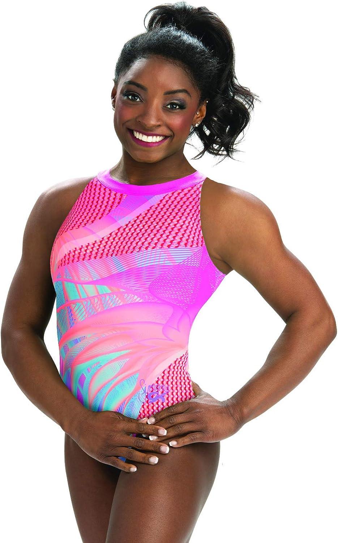 Max 72% OFF GK Girls Simone Biles Gymnastics Leotard Neck One New arrival Mock Tank Piec