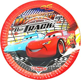Party Tableware Cars Birthday Party Decorations Kids Favor McQueen Paper Cups Plates Tablewares Set Party Supplies (Color...