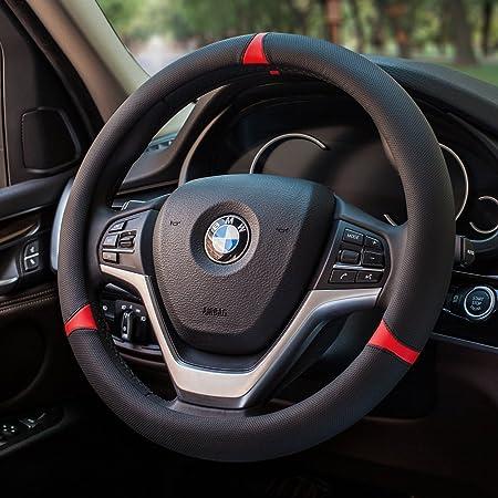Hcmax Mikrofaser Weich Fahrzeug Lenkradabdeckung Bequem Auto Lenkradschutz Universal Durchmesser 38cm 15 Auto