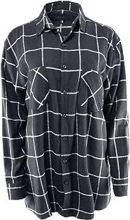 Ladies' Code Women's Boyfriend Shirt Flannel Plaid Button Down One Size