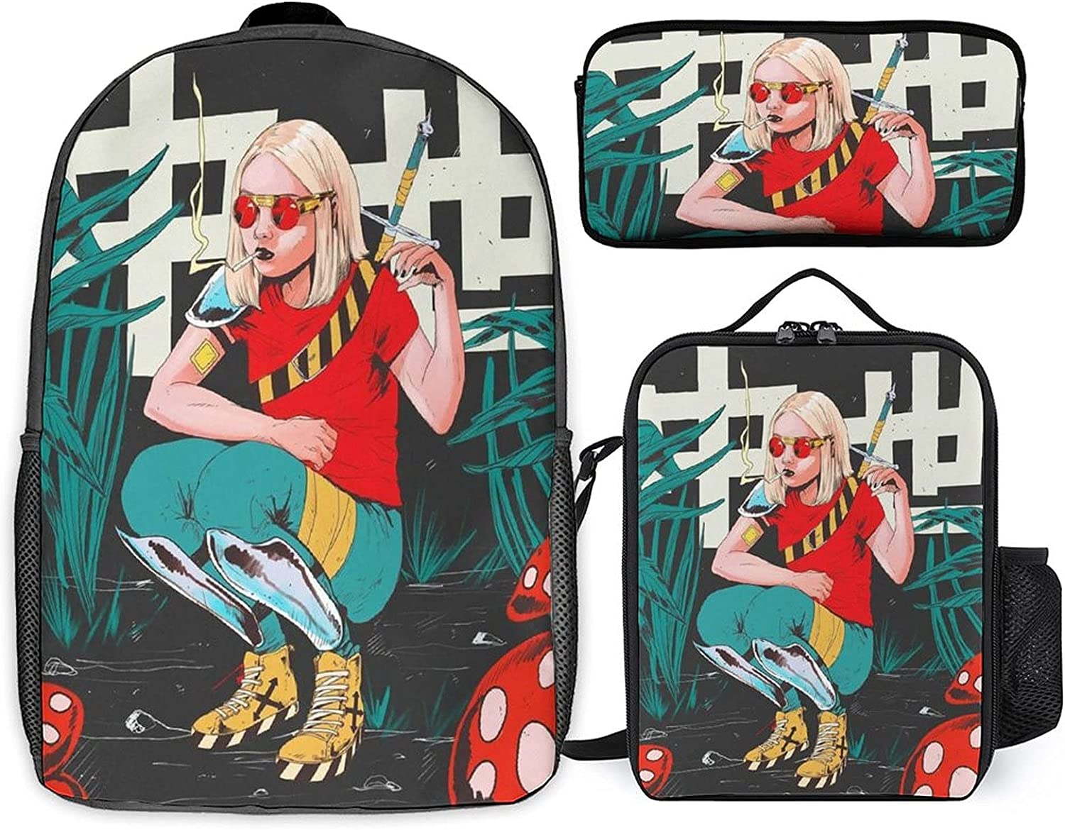Stoner Art Outlet sale feature Three-piece set of st 67% OFF of fixed price + schoolbag student