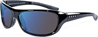 Color Blind Glasses - Monterey Black Wrap Sunglasses - Outdoor Cx3 Outdoor Lens - Ideal For Red-Green Color Blindness