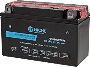 NICHE Battery for YT7B-BS AGM Sealed Maintenance Free 120CCA 12V Self Activated ATV Motorcycle Scooter Yamaha Ducati