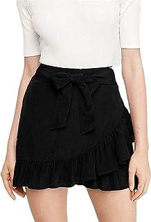 Cotton Kingdom Antimicrobial Soft Cotton Womens Frilled Mini Skort Skirt (Black, XS-10XL)