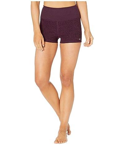 ALO Alosoft Aura Shorts (Black Plum Heather) Women