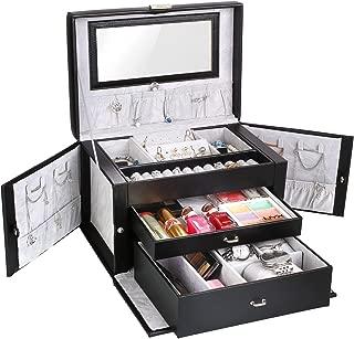 Femor Caja Joyero, Caja para Joyas con Espejo, Interior de