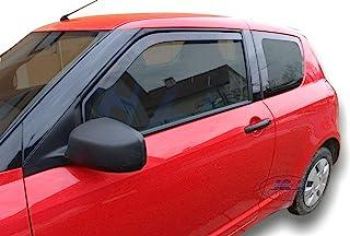 Deflecteurs dair d/éflecteurs de Vent Compatible avec Suzuki Splash 5 Portes 2008-pr/és 2 pi/èces J/&J AUTOMOTIVE