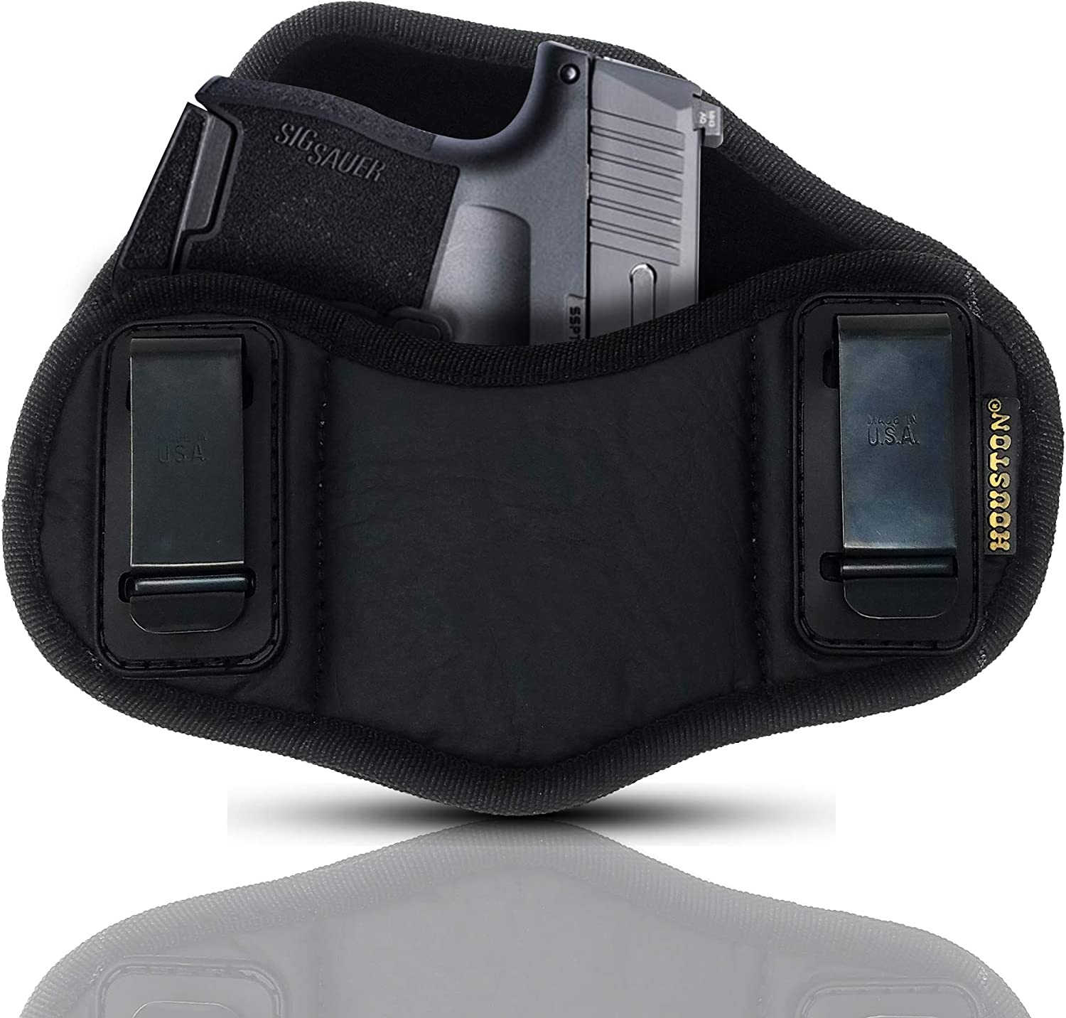 NEW before selling Tactical Pancake Gun Holster Houston Car ECO Genuine Free Shipping - Leather Concealed