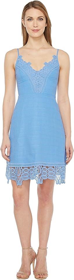 A-Line Dress w/ Lace Trim