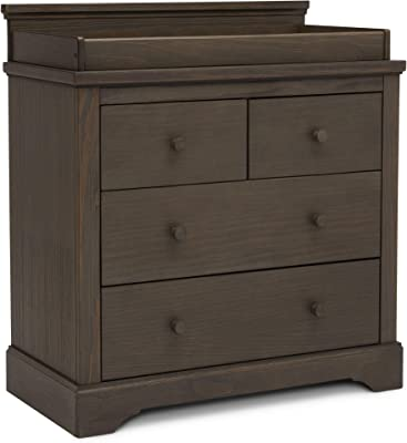 Simmons Kids SlumberTime Paloma 4 Drawer Dresser with Changing Top, Rustic Grey