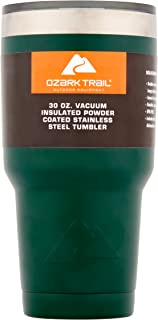 Ozark Trail 30-Ounce Double-Wall, Vacuum-Sealed Tumbler (Green)