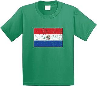 Amdesco Paraguay Flag Paraguayan Youth T-Shirt