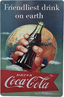 "AIQIBAO Metal Vintage Tin Sign Decor-Cocacola for Bar Pub Shop Funny Retro Art Sign 12"" X 8"""