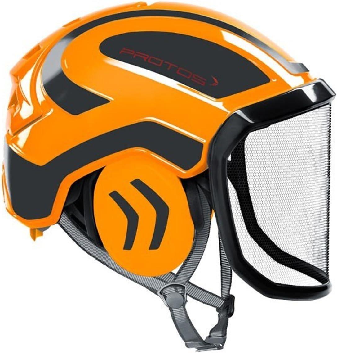 Protos integral - Casco de seguridad, color naranja y gris