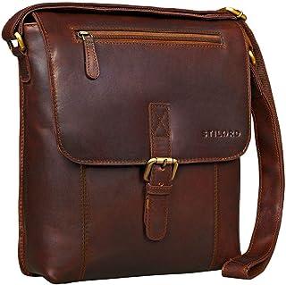 "STILORD Matthias"" Messenger Bag Herren Damen Leder Umhängetasche Schultertasche klein 10.1 Zoll Tablet iPad Vintage echtes Büffel-Leder"