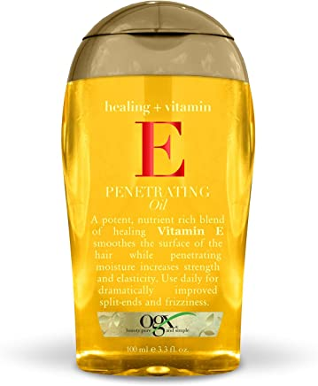 OGX Healing + Vitamin E Penetrating Oil, 3.3 Ounce Bottle Sulfate-Free Surfactants Moisturizing