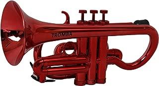Tromba TC1-MT Pro Professional Plastic BB Cornet, Metallic Red