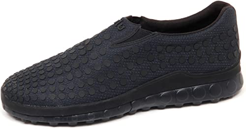 Ccilu E8000 (Without Box) paniers hommes Rubber Rubber Tissue bleu noir Slip on chaussures Man