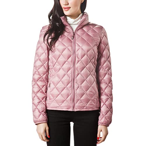 d14fc2f6ec9d2 XPOSURZONE Women Packable Down Quilted Jacket Lightweight Puffer Coat