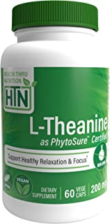 Sponsored Ad - L-Theanine 200mg 60 Vegecaps Non-GMO (PhytoSure™ Certified) Vegan - Non GMO and Free from Common excipients...