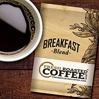 Fresh Roasted Coffee LLC, Breakfast Blend Coffee, 1.75 Ounce Pre-Ground Fractional Packages, 42 Portion Packs