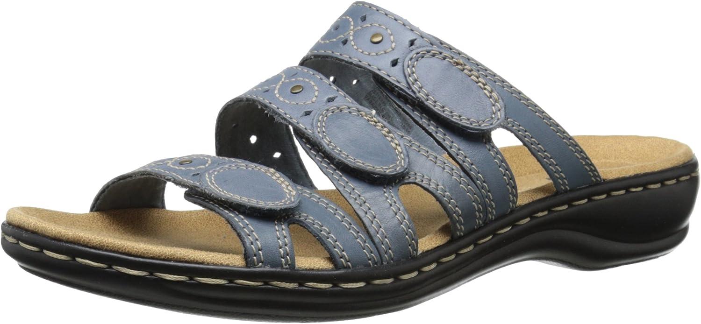 CLARKS Woherren Leisa Cacti Slide Sandal, Denim Blau Leather, Leather, 8 N US  Qualitätskontrolle
