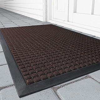 Outdoor Doormats, Non Slip Heavy Duty Rubber Welcome Mats for Front Door, Durable Utility Mud Scrapper Entryway Rug Indoor...