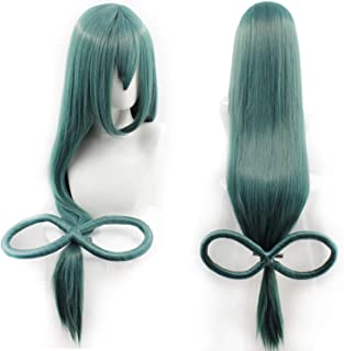 My Hero Academia Tsuyu Asui Cosplay Wigs Long Straight Anime Party Wig Green