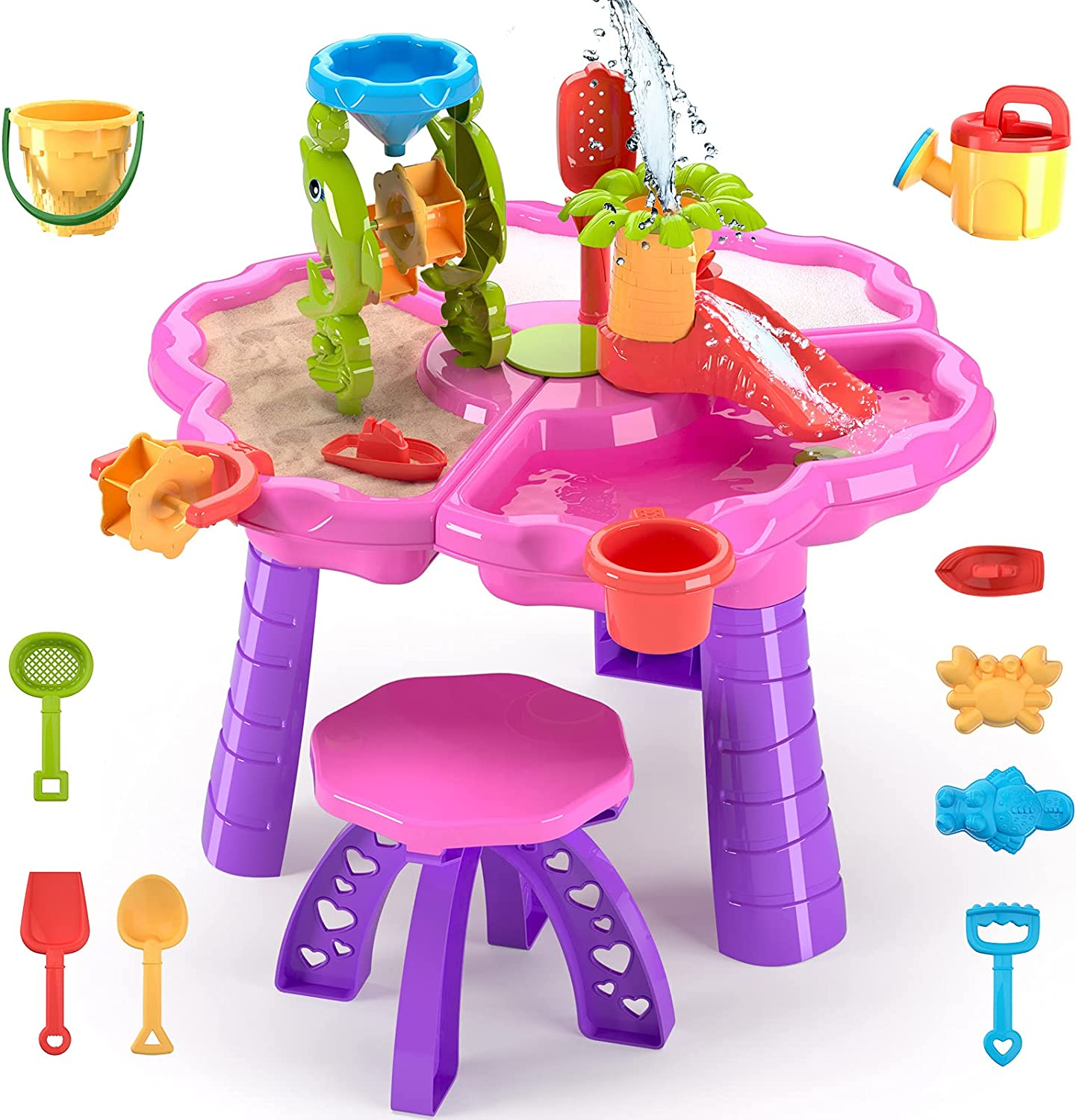 TEMI 3-in-1 Sand Water Table Toys Kids Activity Summer for Ranking TOP7 Arlington Mall