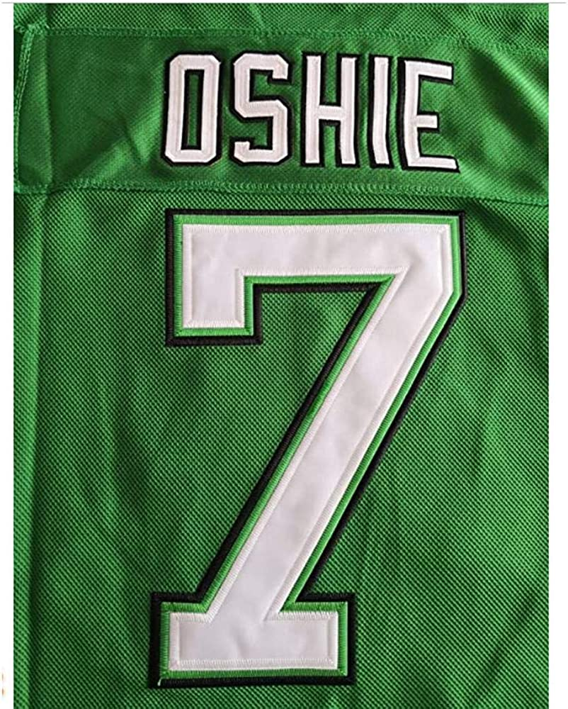 Mens Ice Hockey Movie 7 TJ Oshie Green Stitched Outdoor Jersey