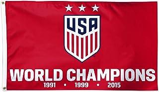 USA Women`s Soccer Team | USWNT | Champions! | Licensed Flag | 5 x 3 ft