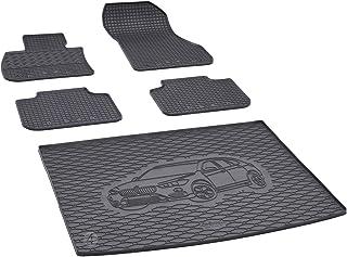 Kofferraumwanne und Gummifußmatten passgenau geeignet für BMW X1 F48 ab 2016 Farbe Schwarz + Gurtschoner