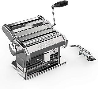 SEISSO 製麺機 パスタマシン 洗える 家庭用 手回し版 簡単に麺を作る 2種カッター 2MM細麺/4MM太麺 食品級ステンレス製 衛生的 お手入れ簡単 日欧米認証済み