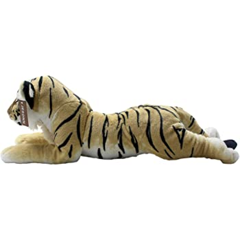 "JESONN Realistic Stuffed Animals Grovel Tiger Plush Toys Pillows,23.6"" or 60 Centimeter (Brown)"