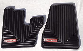 Kenworth T600 660 W900 C500 OEM Black Rubber Floor Mats w/Red Logo Fits 2005-2017