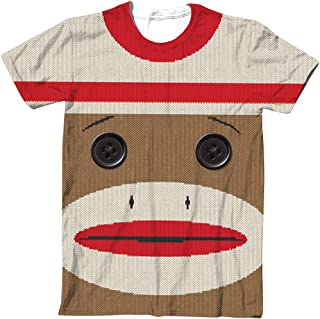 Sock Monkey Big Face T-Shirt, Iconic Classic Funwear