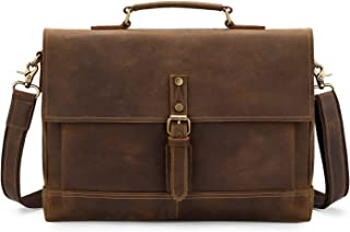 Kattee Men's Leather Briefcase Fits 15.6