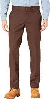 67 Collection - Slim Fit Industrial Work Pants Chocolate Brown 33