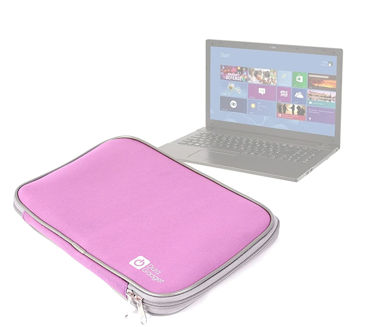 DURAGADGET Shock Proof & Water Resistant Soft Pink Neoprene Laptop Case for PC Specialist 15.6