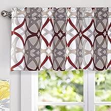 DriftAway Alexander Spiral Geo Trellis Pattern Window Curtain Valance Rod Pocket 52 Inch..